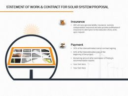 Statement Of Work And Contract For Solar System Proposal Ppt Powerpoint Presentation