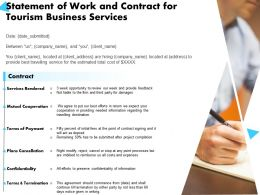 Statement Of Work And Contract For Tourism Business Services Ppt Powerpoint Presentation Designs