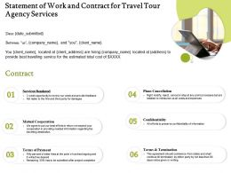 Statement Of Work And Contract For Travel Tour Agency Services Ppt Powerpoint Introduction