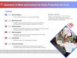 Statement Of Work And Contract For Video Production Services Ppt Outline