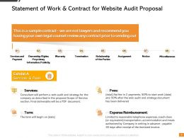Statement Of Work And Contract For Website Audit Proposal Ppt Presentation Example 2015