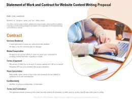 Statement Of Work And Contract For Website Content Writing Proposal Ppt Powerpoint Presentation Styles