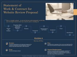 Statement Of Work And Contract For Website Review Proposal Ppt Demonstration