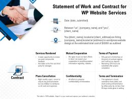 Statement Of Work And Contract For WP Website Services Ppt Powerpoint Presentation Themes
