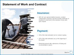 Statement Of Work And Contract Insurance Ppt Powerpoint Presentation Icons