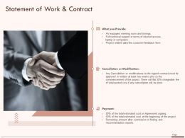 Statement Of Work And Contract Payment Ppt Powerpoint Presentation Outline Shapes