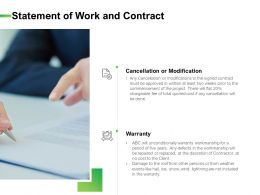 Statement Of Work And Contract Ppt Powerpoint Ideas