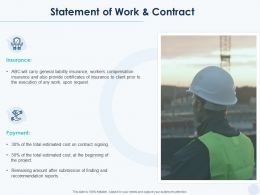 Statement Of Work And Contract Ppt Powerpoint Presentation Layouts Files