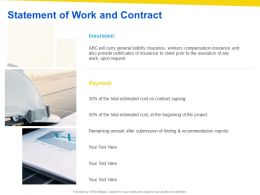 Statement Of Work And Contract Ppt Powerpoint Presentation Portfolio Images