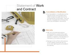 Statement Of Work And Contract Ppt Powerpoint Presentation Professional Show