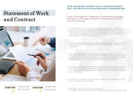 Statement Of Work And Contract Ppt Powerpoint Presentation Visual Aids
