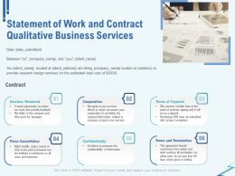 Statement Of Work And Contract Qualitative Business Services Ppt Ideas