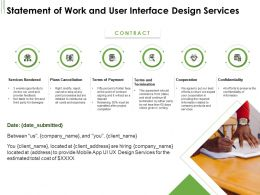 Statement Of Work And User Interface Design Services Ppt Powerpoint Portrait