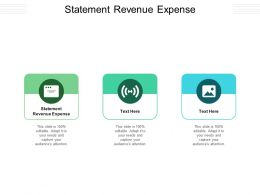 Statement Revenue Expense Ppt Powerpoint Presentation Layouts Clipart Cpb