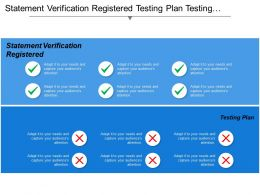 Statement Verification Registered Testing Plan Testing Reporting Test