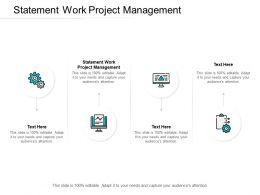 Statement Work Project Management Ppt Powerpoint Presentation Picture Cpb