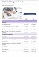 Statements Of Changes In Net Assets Presentation Report Infographic PPT PDF Document