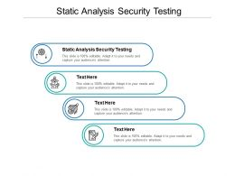 Static Analysis Security Testing Ppt Powerpoint Presentation Inspiration Graphic Tips Cpb