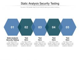Static Analysis Security Testing Ppt Powerpoint Presentation Outline Format Cpb