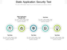Static Application Security Test Ppt Powerpoint Presentation Layouts Clipart Images Cpb