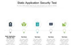 Static Application Security Test Ppt Powerpoint Presentation Summary Microsoft Cpb
