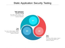 Static Application Security Testing Ppt Powerpoint Presentation Show Summary Cpb