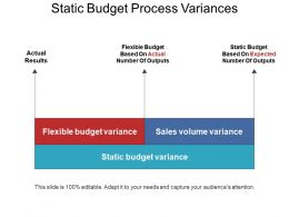 Static Budget Process Variances Ppt Example Professional