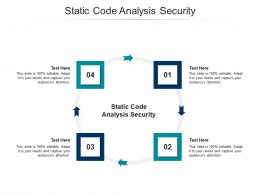 Static Code Analysis Security Ppt Powerpoint Presentation Pictures Introduction Cpb
