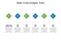 Static Code Analysis Tools Ppt Powerpoint Presentation Show Templates Cpb