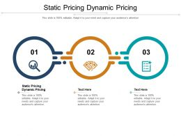 Static Pricing Dynamic Pricing Ppt Powerpoint Presentation Slides Guide Cpb