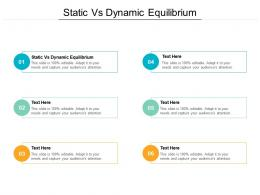Static Vs Dynamic Equilibrium Ppt Powerpoint Presentation Summary Backgrounds Cpb