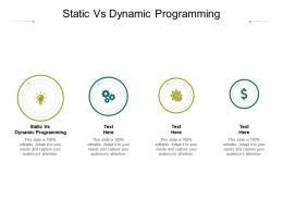 Static Vs Dynamic Programming Ppt Powerpoint Presentation Ideas Slide Portrait Cpb