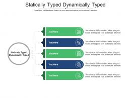 Statically Typed Dynamically Typed Ppt Powerpoint Presentation Inspiration Example File Cpb
