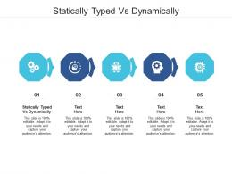 Statically Typed Vs Dynamically Ppt Powerpoint Presentation File Brochure Cpb