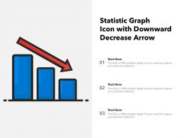 Statistic Graph Icon With Downward Decrease Arrow