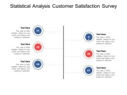 Statistical Analysis Customer Satisfaction Survey Ppt Powerpoint Professional Cpb