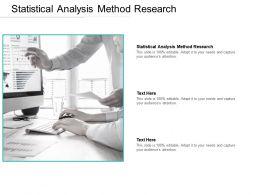 Statistical Analysis Method Research Ppt Powerpoint Presentation Portfolio Graphics Cpb