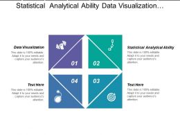 Statistical Analytical Ability Data Visualization Enterprise Data Management
