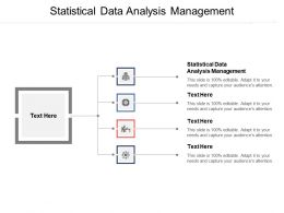 Statistical Data Analysis Management Ppt Powerpoint Presentation Gallery Samples Cpb