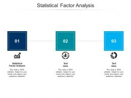 Statistical Factor Analysis Ppt Powerpoint Presentation Professional Graphics Download Cpb