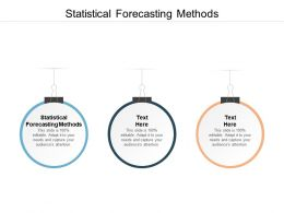 Statistical Forecasting Methods Ppt Powerpoint Presentation Infographics Background Images Cpb
