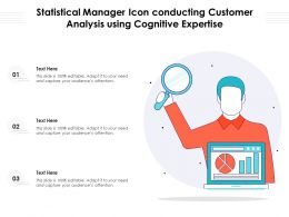 Statistical Manager Icon Conducting Customer Analysis Using Cognitive Expertise