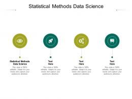 Statistical Methods Data Science Ppt Powerpoint Presentation Layouts Clipart Images Cpb