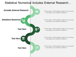 Statistical Numerical Includes External Research Individual Session Content