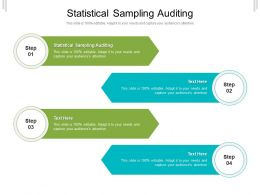 Statistical Sampling Auditing Ppt Powerpoint Presentation Infographic Template Graphic Tips Cpb