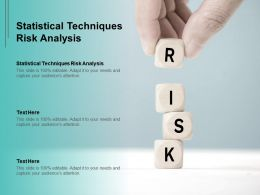 Statistical Techniques Risk Analysis Ppt Powerpoint Presentation Show Demonstration Cpb