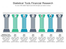 Statistical Tools Financial Research Ppt Powerpoint Presentation Infographic Slide Cpb