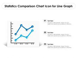 Statistics Comparison Chart Icon For Line Graph