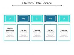Statistics Data Science Ppt Powerpoint Presentation Professional Ideas Cpb