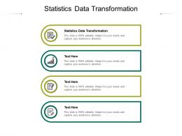Statistics Data Transformation Ppt Powerpoint Presentation Summary Icons Cpb